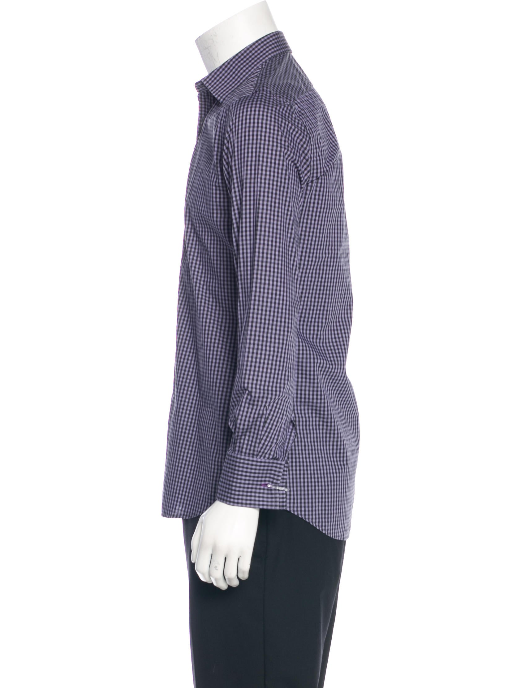 Paul smith slim fit french cuff gingham shirt clothing for Gingham french cuff shirt