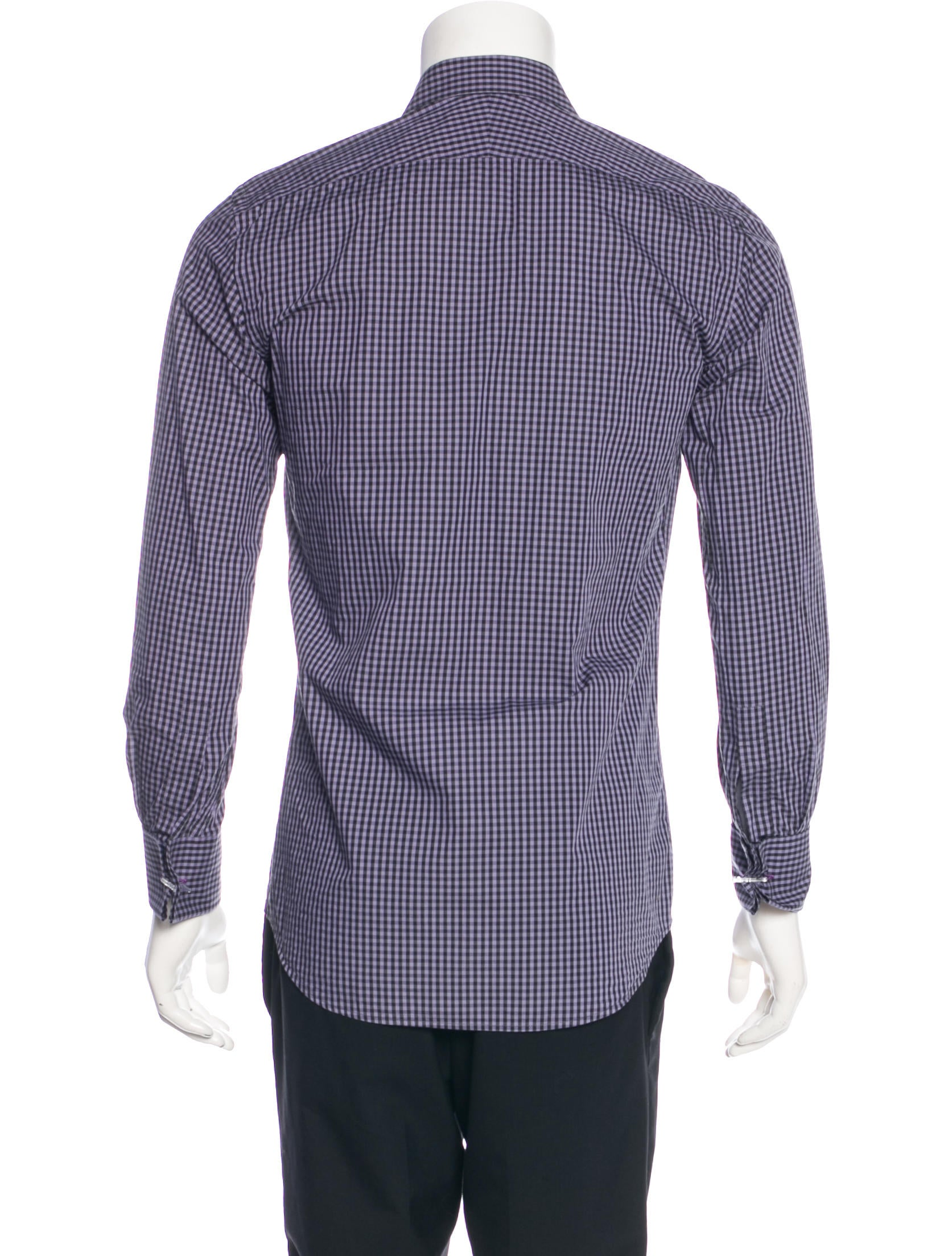 Paul Smith Slim Fit French Cuff Gingham Shirt Clothing
