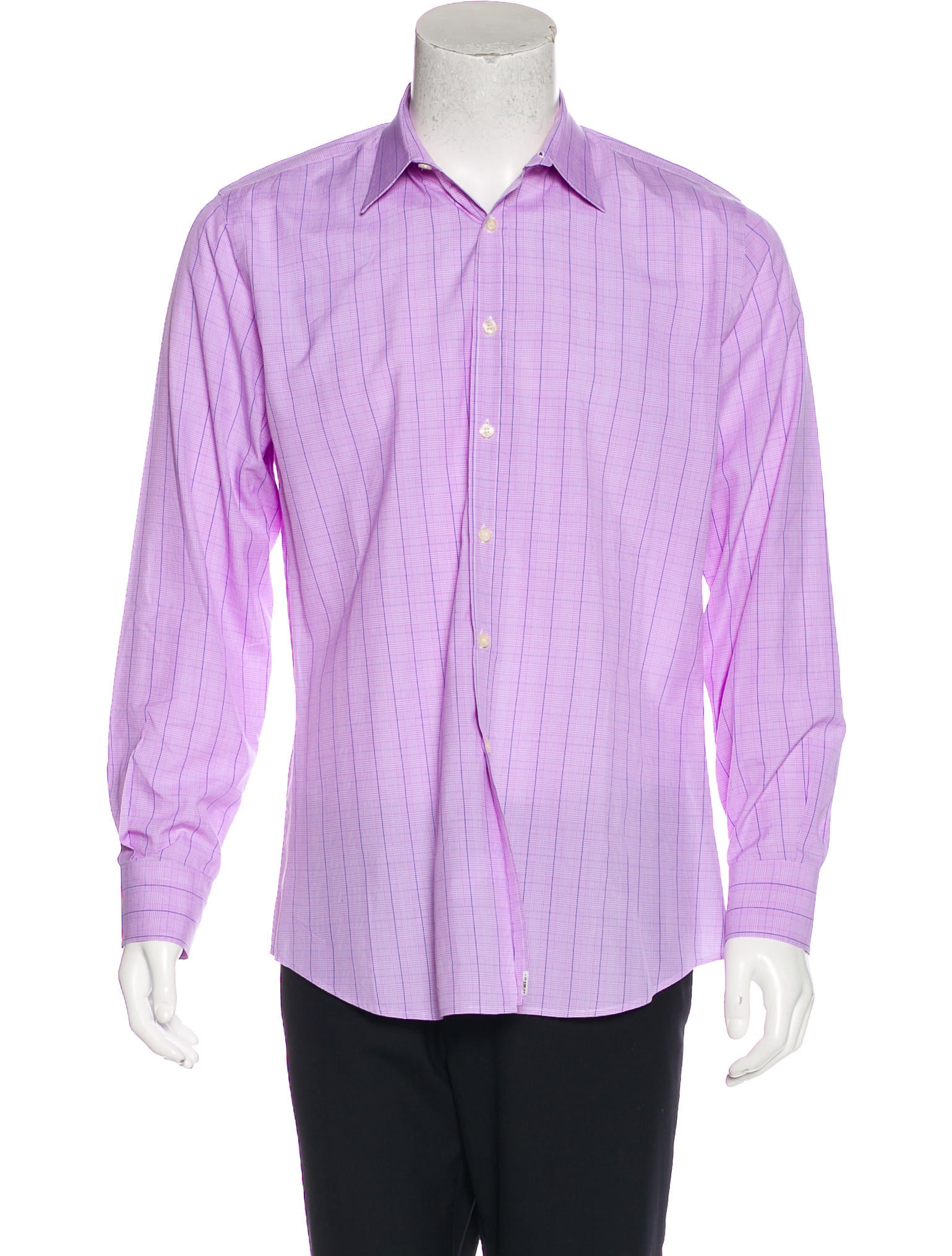 Paul smith tailored fit plaid shirt clothing wps24509 for Tailored fit dress shirts