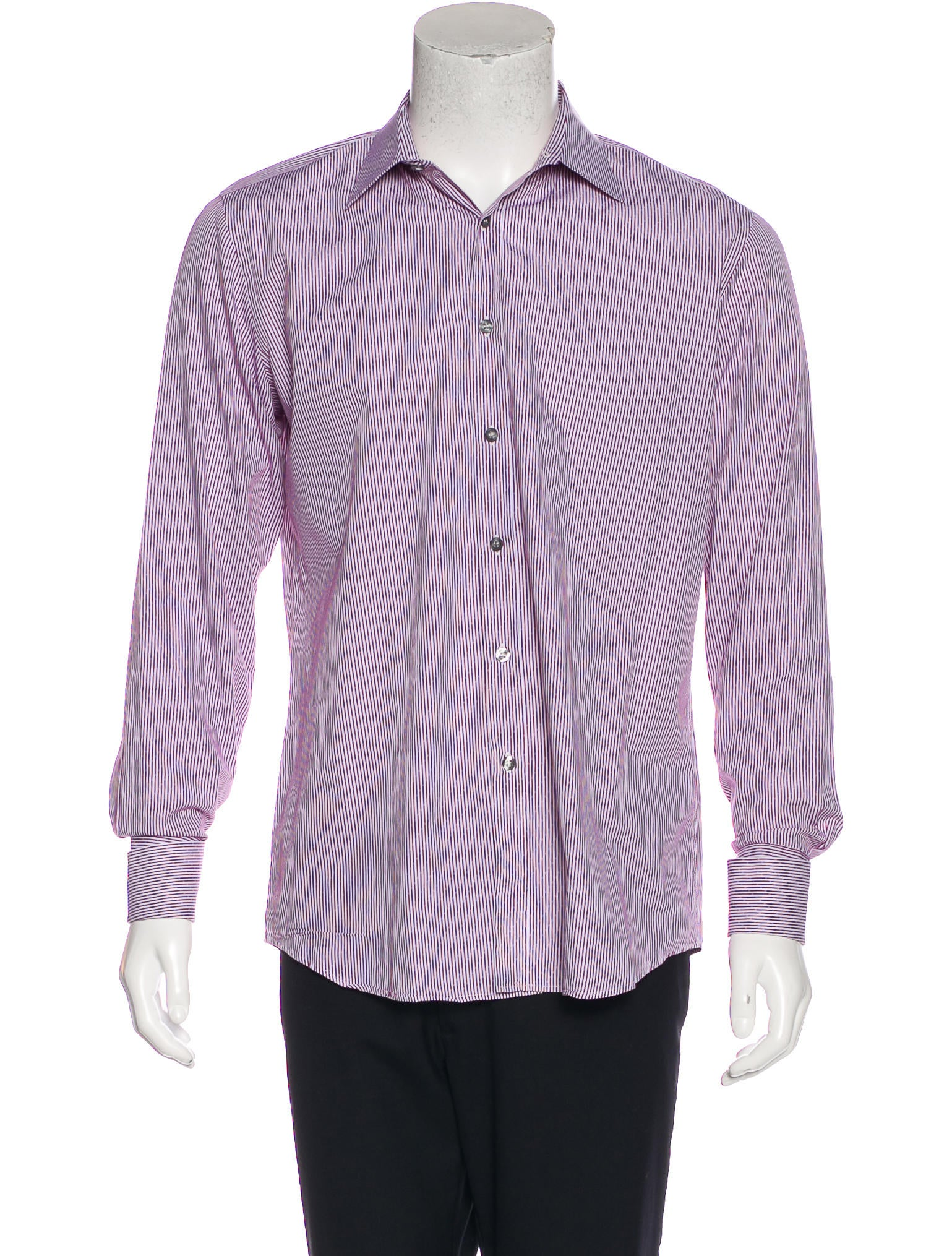 Paul smith striped french cuff shirt clothing wps24511 for French cuff dress shirts for sale