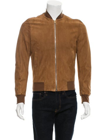 Paul Smith Suede Rib Knit-Trimmed Jacket None
