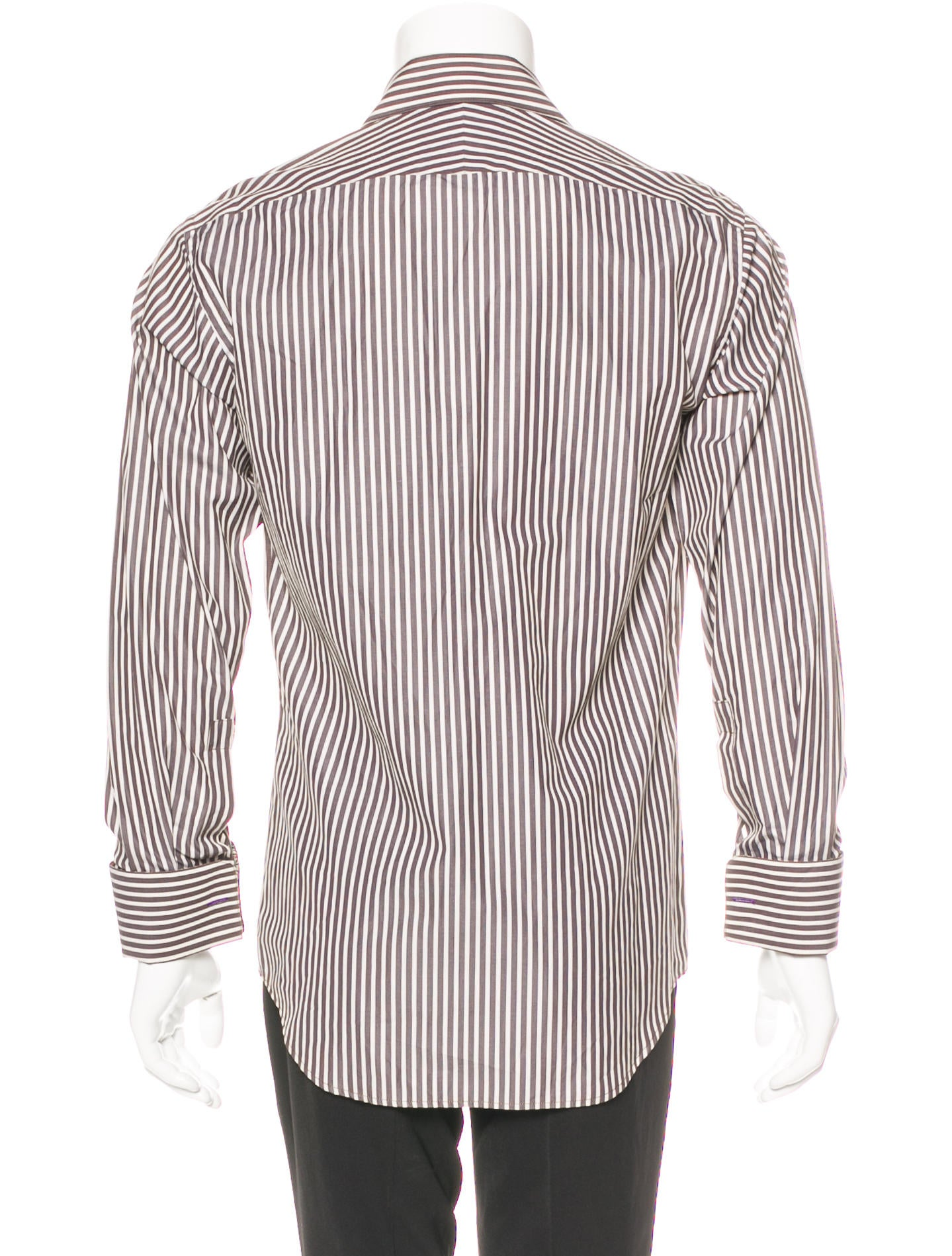 paul smith striped french cuff shirt clothing wps24625. Black Bedroom Furniture Sets. Home Design Ideas