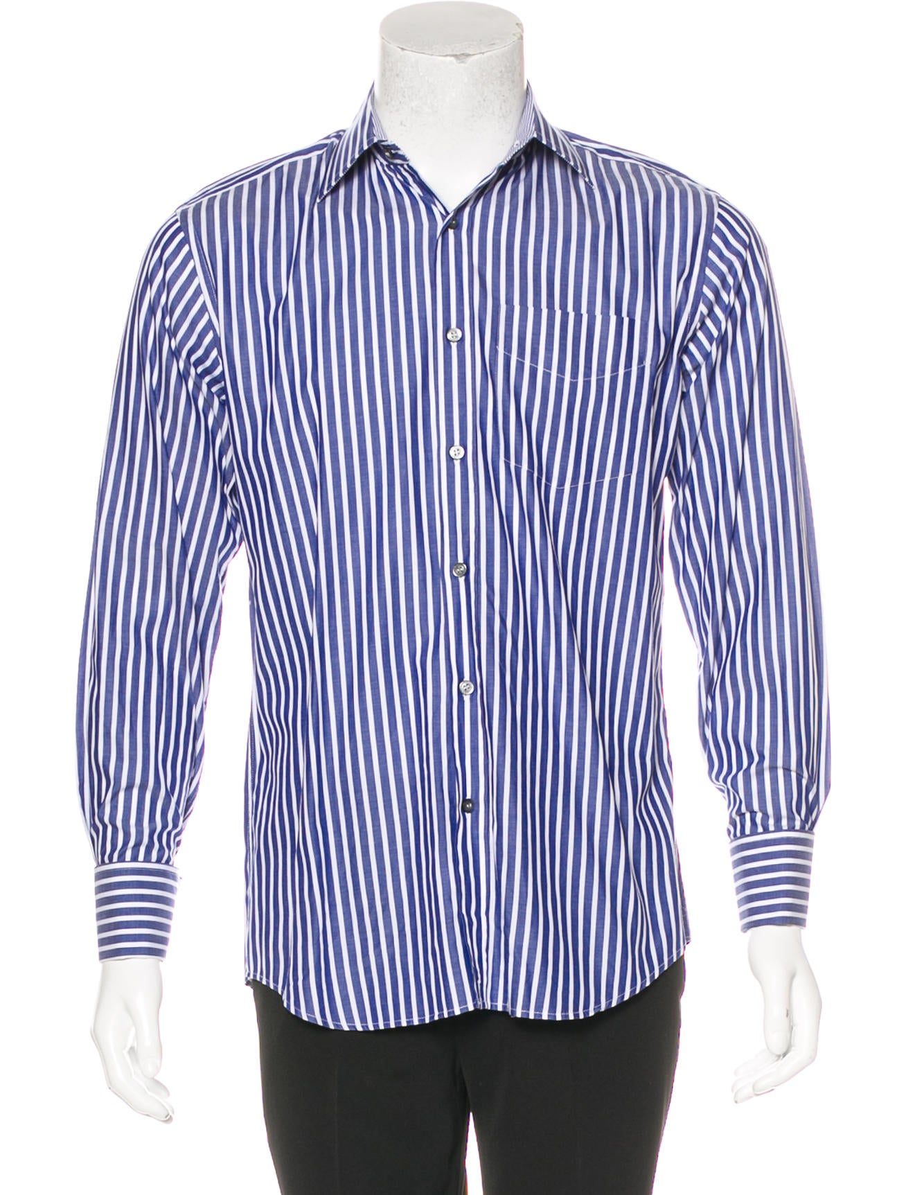 paul smith striped french cuff button up shirt clothing
