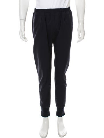 Paul Smith Knit-Trimmed Woven Joggers None