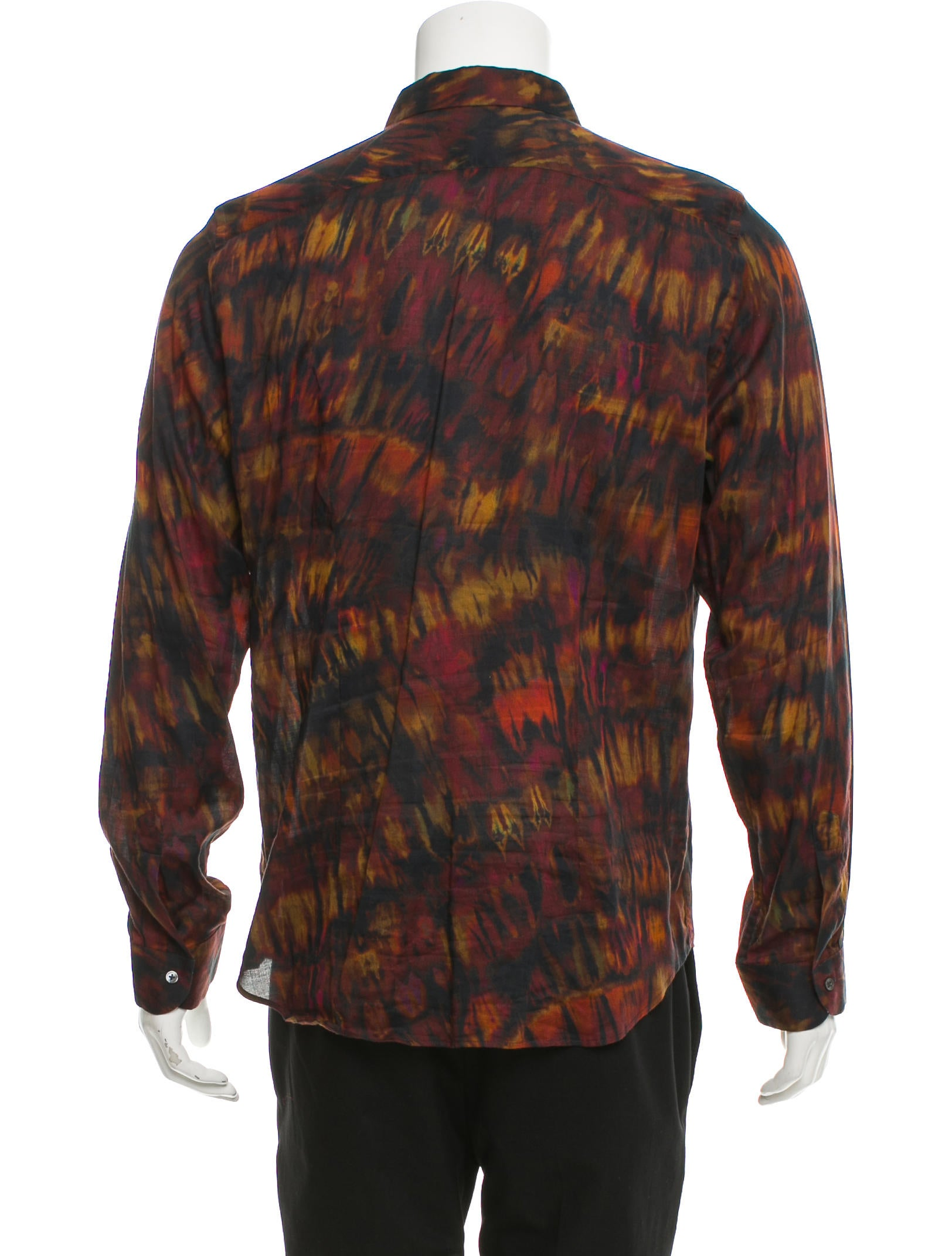 Paul smith tie dye print button up shirt clothing for Tie dye printed shirts