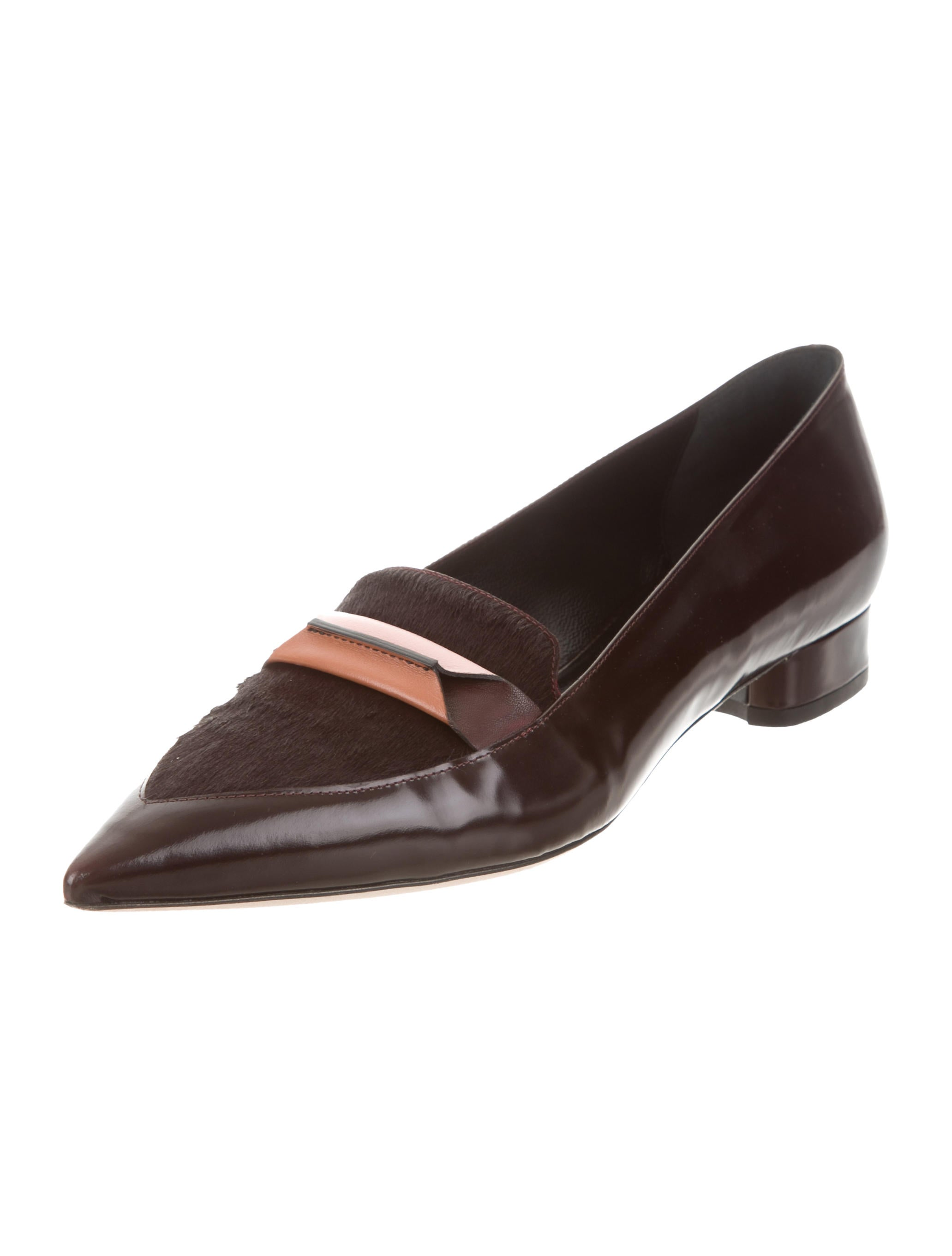 Paul Smith Pointed-Toe Ponyhair-Trimmed Flats cheap price discount authentic 1uJwV