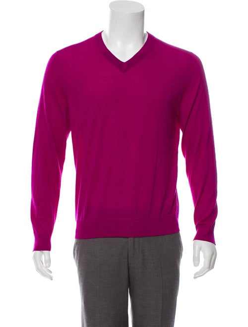d52fc8a151438a Paul Smith Merino Wool Knit V-Neck Sweater - Clothing - WPS30229 ...