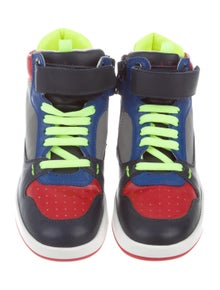 Paul Smith Boys' Leather High-Top Sneakers