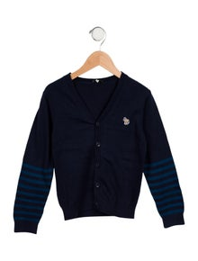 Paul Smith Boys' Striped-Accented Cardigan