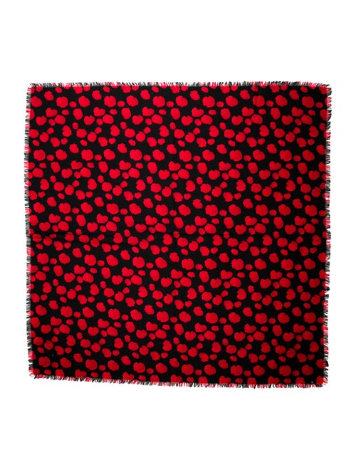 Paul Smith Patterned Wool Scarf black