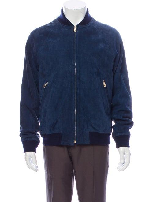 Paul Smith Leather Jacket Blue
