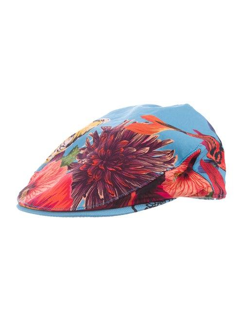 Paul Smith Printed Newsboy Hat blue