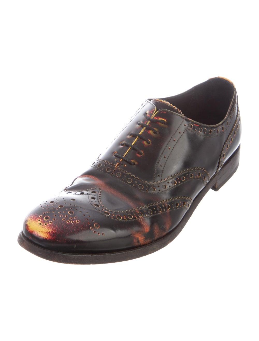 Paul Smith Burnished Leather Leather Spectators B… - image 2