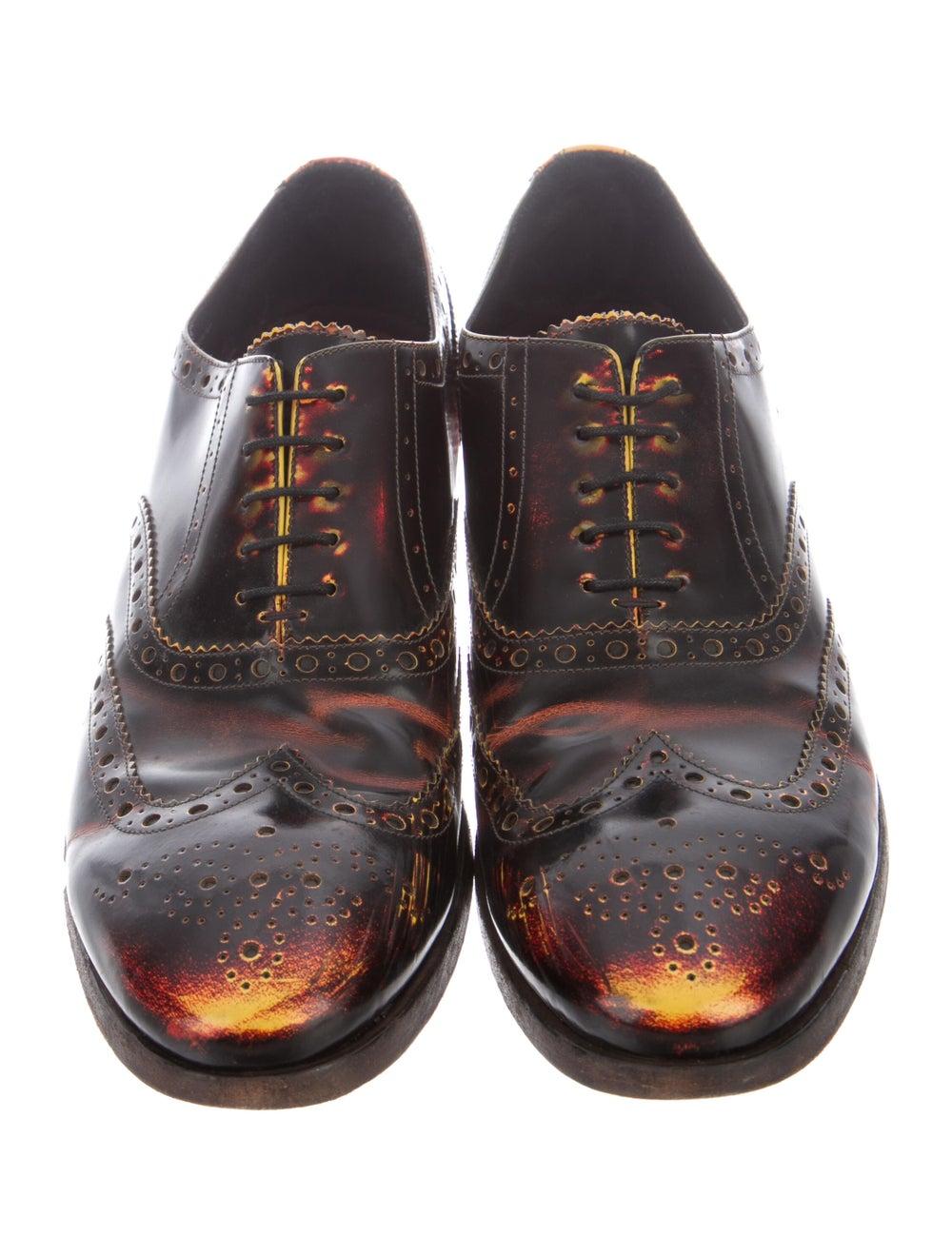 Paul Smith Burnished Leather Leather Spectators B… - image 3