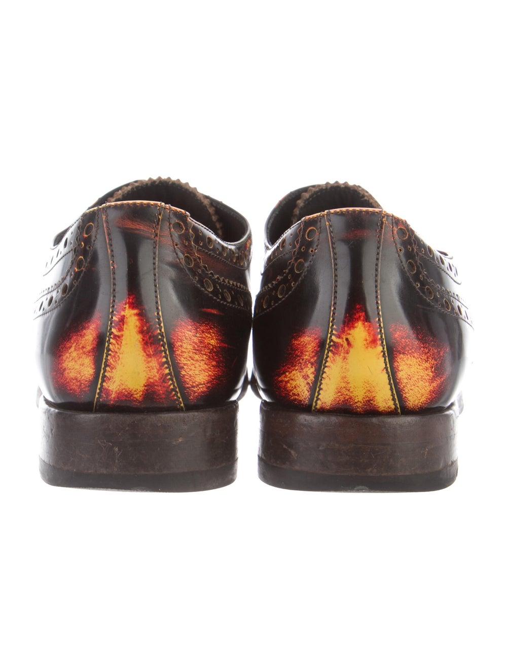Paul Smith Burnished Leather Leather Spectators B… - image 4