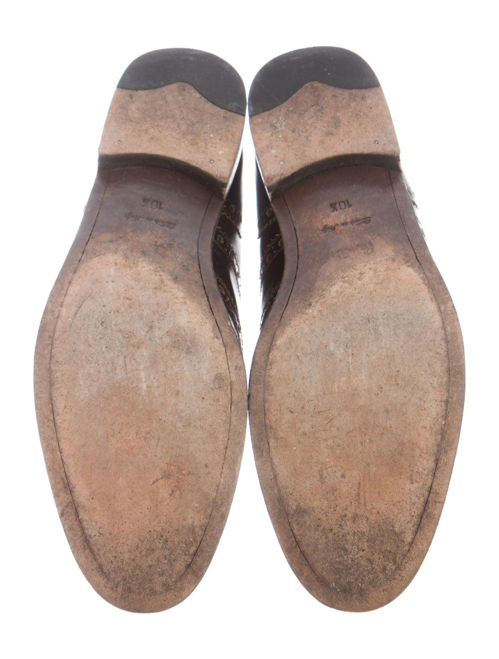 Paul Smith Burnished Leather Leather Spectators B… - image 5