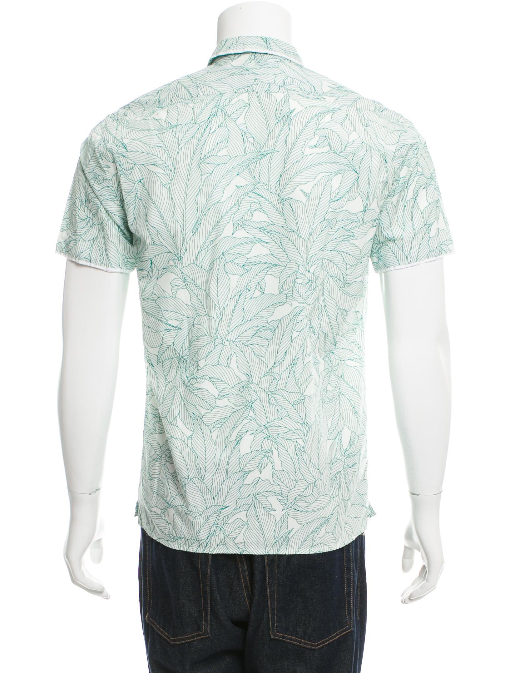 Paul smith jeans floral print button up shirt clothing for Floral print button up shirt