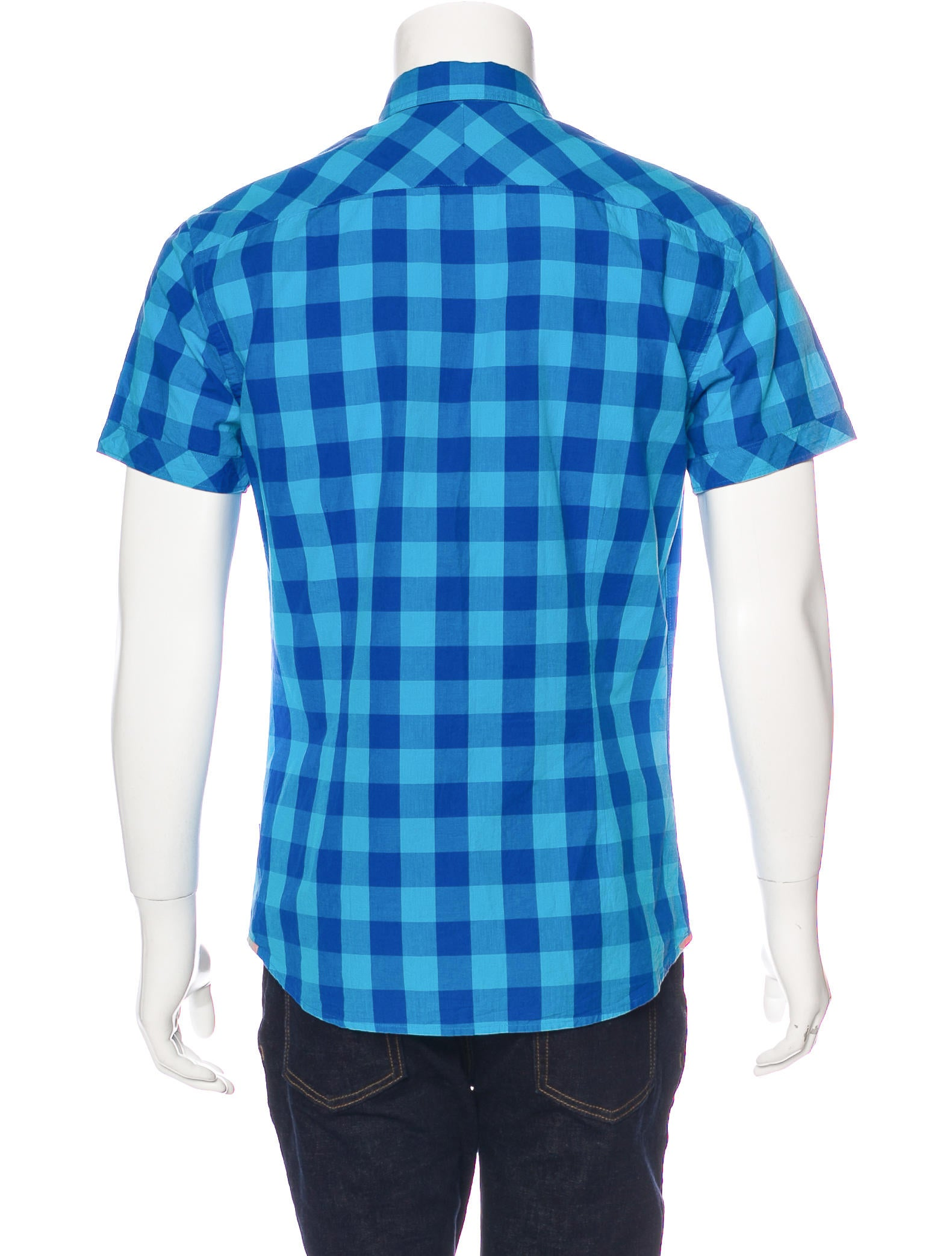 Paul smith jeans buffalo plaid short sleeve shirt Short sleeve plaid shirts