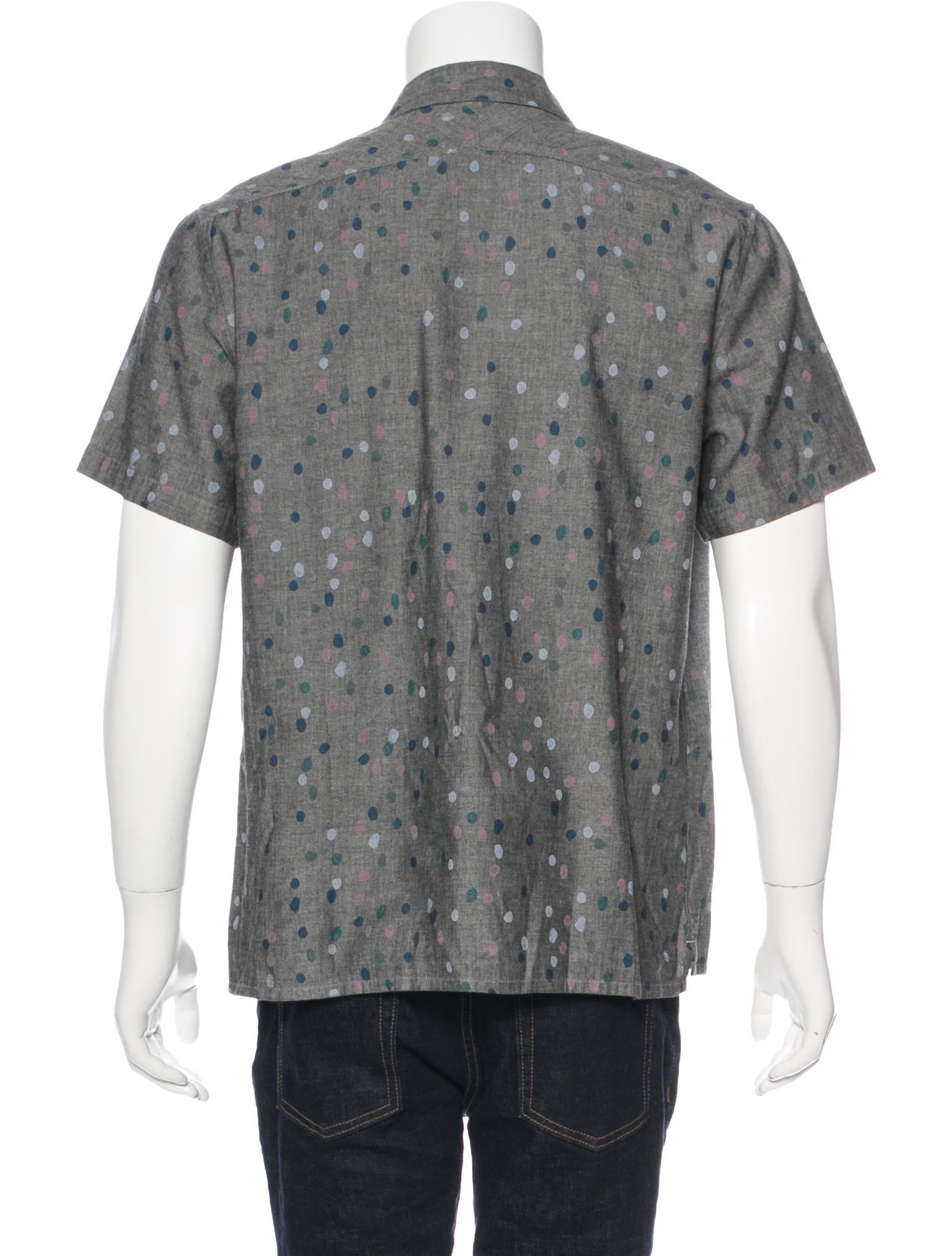 Paul smith jeans polka dot short sleeve shirt clothing for Mens polka dot shirt short sleeve