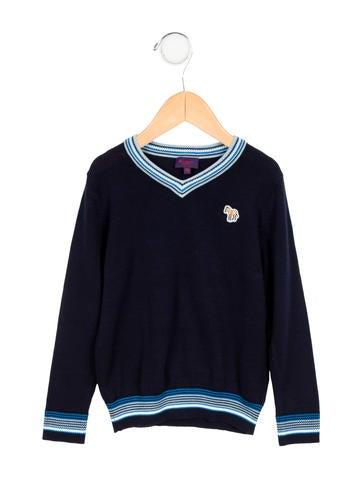 Paul Smith Junior Boys' Knit V-Neck Sweater None