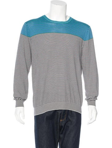PS by Paul Smith Striped Crew Neck Sweater None