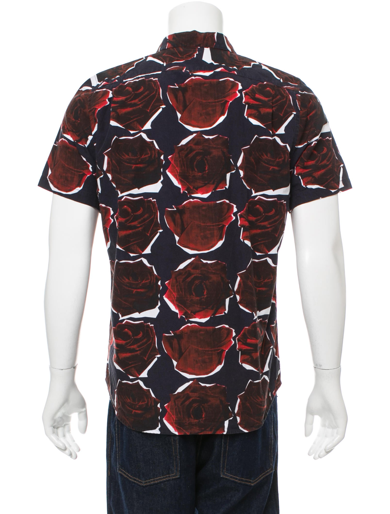 Ps by paul smith floral print button up shirt clothing for Floral print button up shirt