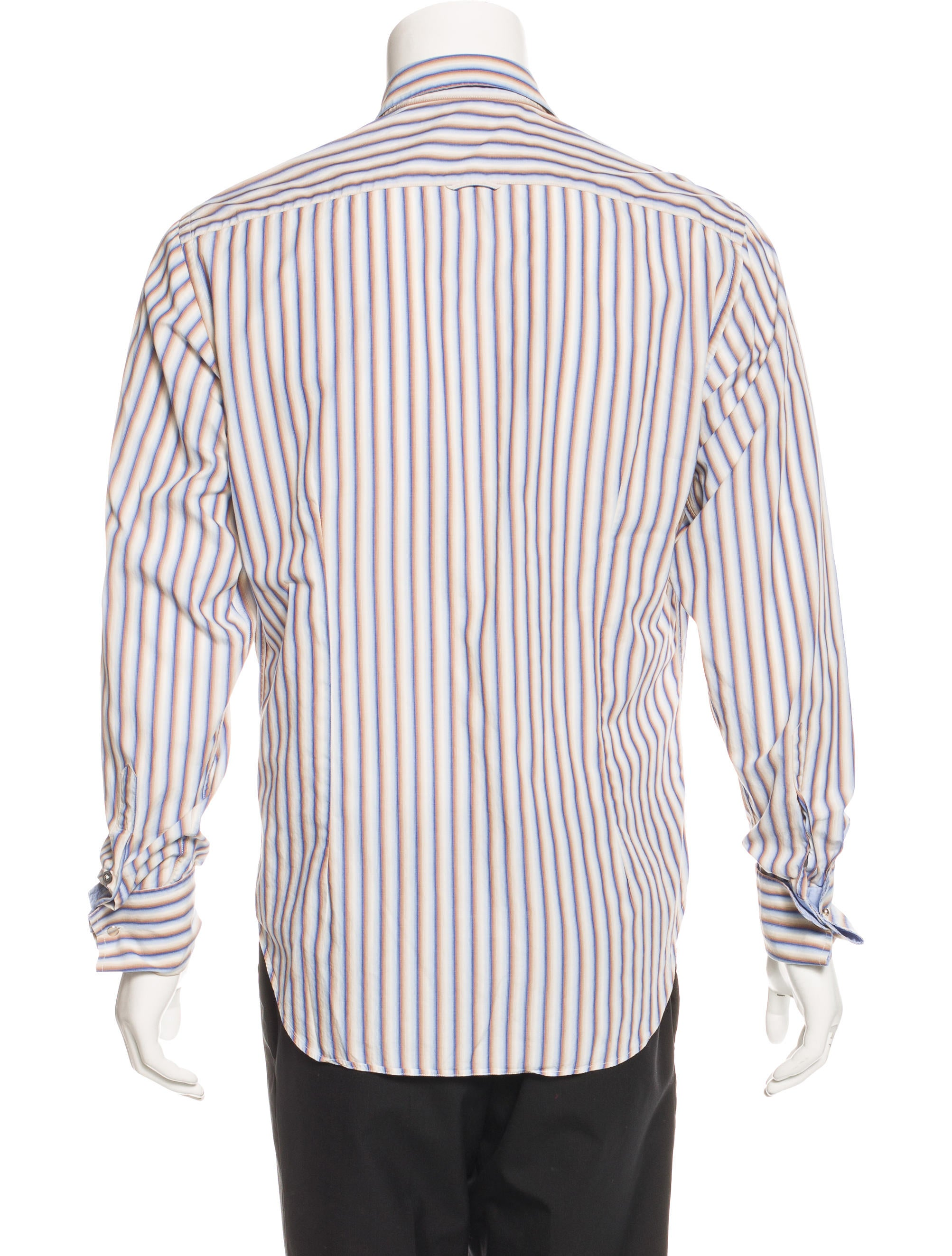 ps by paul smith striped french cuff shirt clothing. Black Bedroom Furniture Sets. Home Design Ideas
