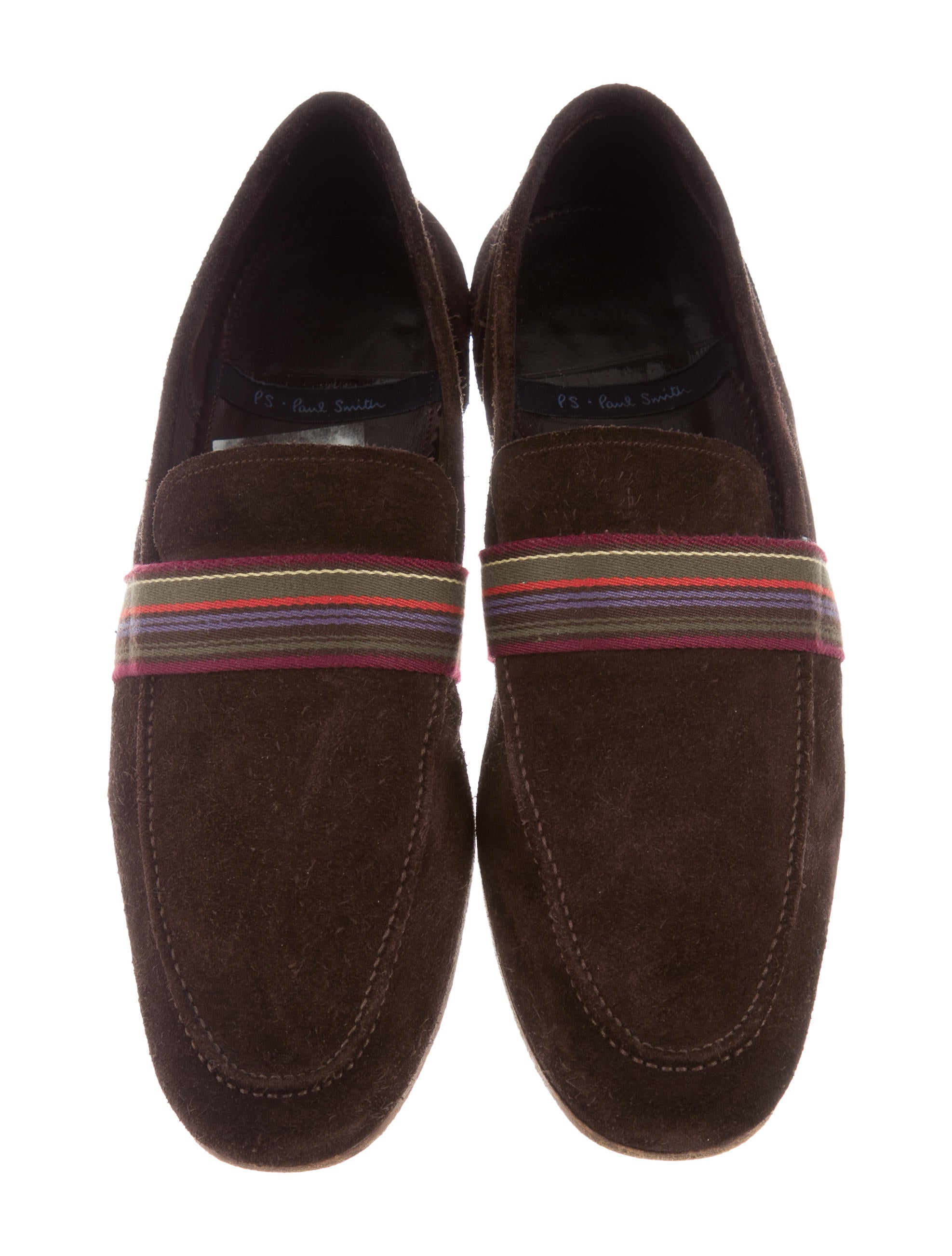 PS by Paul Smith Suede Striped Smoking Slippers Shoes  : WPSPS206723enlarged from www.therealreal.com size 1975 x 2605 jpeg 349kB