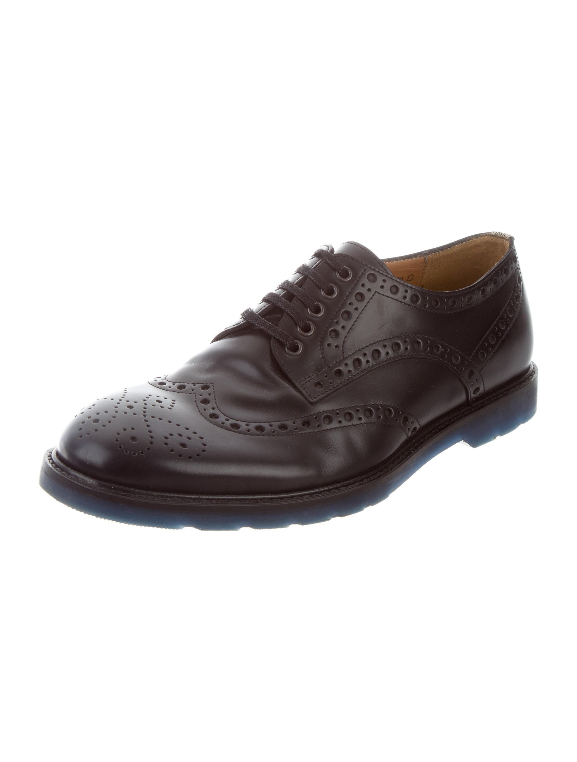 PS by Paul Smith Leather Brogue Derby Shoes Shoes  : WPSPS207672enlarged from www.therealreal.com size 2001 x 2640 jpeg 160kB