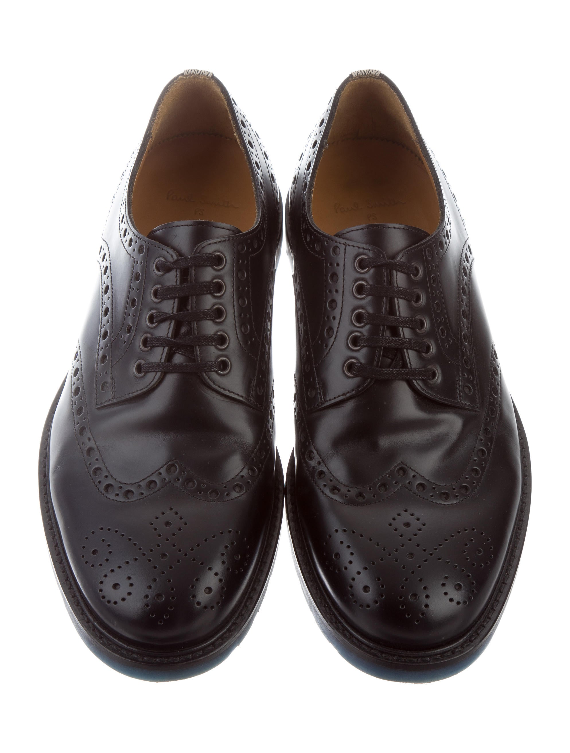 PS by Paul Smith Leather Brogue Derby Shoes Shoes  : WPSPS207673enlarged from www.therealreal.com size 1987 x 2622 jpeg 339kB