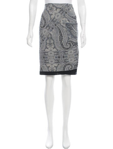 Balenciaga Patterned Pencil Skirt w/ Tags Free Shipping 100% Authentic Sale Fake Cheap Sale Footlocker 0w3OAK1NSC