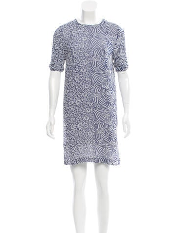 Rodebjer Jacquard Keyhole-Accented Dress