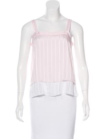 Rodebjer Striped Sleeveless Top None
