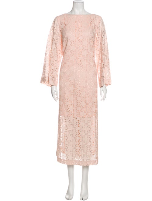 Rodebjer Lace Pattern Long Dress