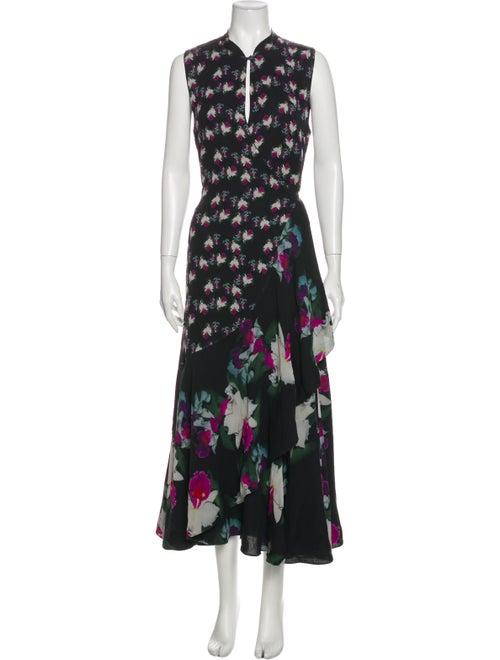 Rodebjer Silk Long Dress Black