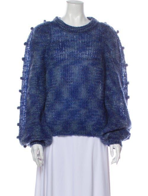Rodebjer Mohair Crew Neck Sweater Blue