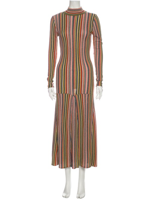 Rodebjer Striped Long Dress Blue