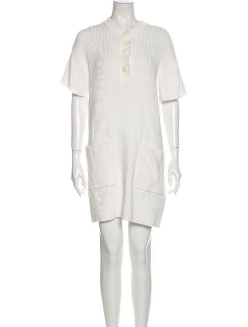 Rodebjer Crew Neck Mini Dress White