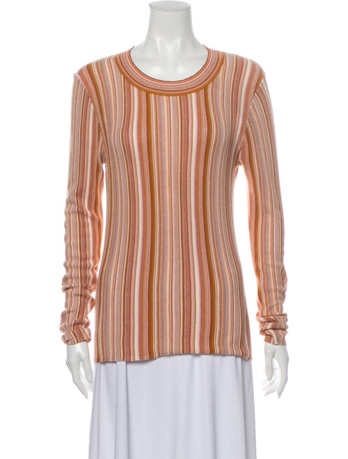 Rodebjer Striped Scoop Neck Sweater Brown