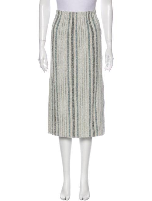 Rodebjer Striped Midi Length Skirt
