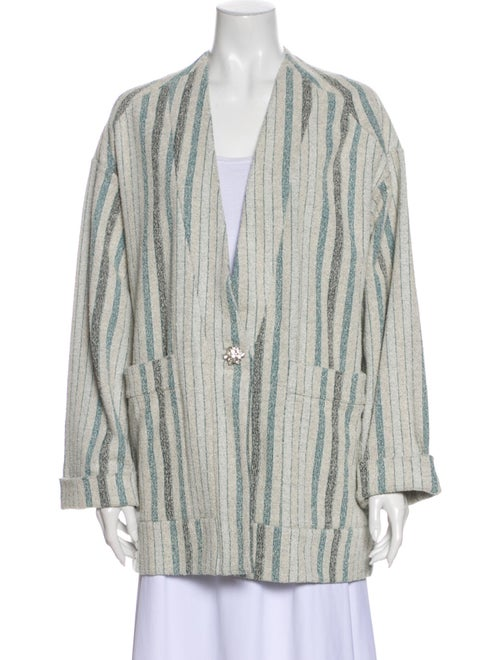 Rodebjer Striped Coat Blue