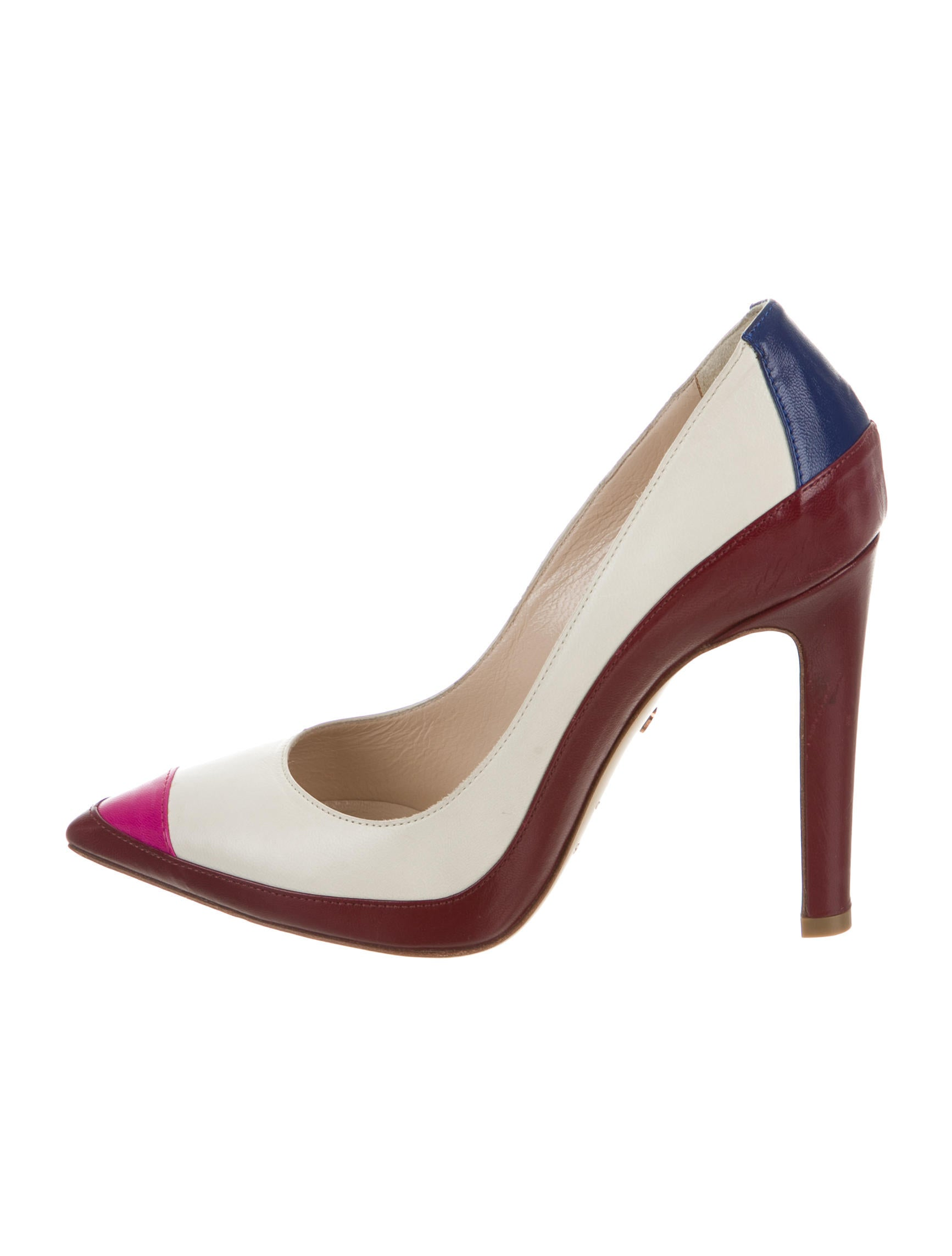Ruthie Davis Colorblock Peep-Toe Pumps outlet cheap online outlet cost buy cheap clearance clearance new big sale cheap price REjFCl03