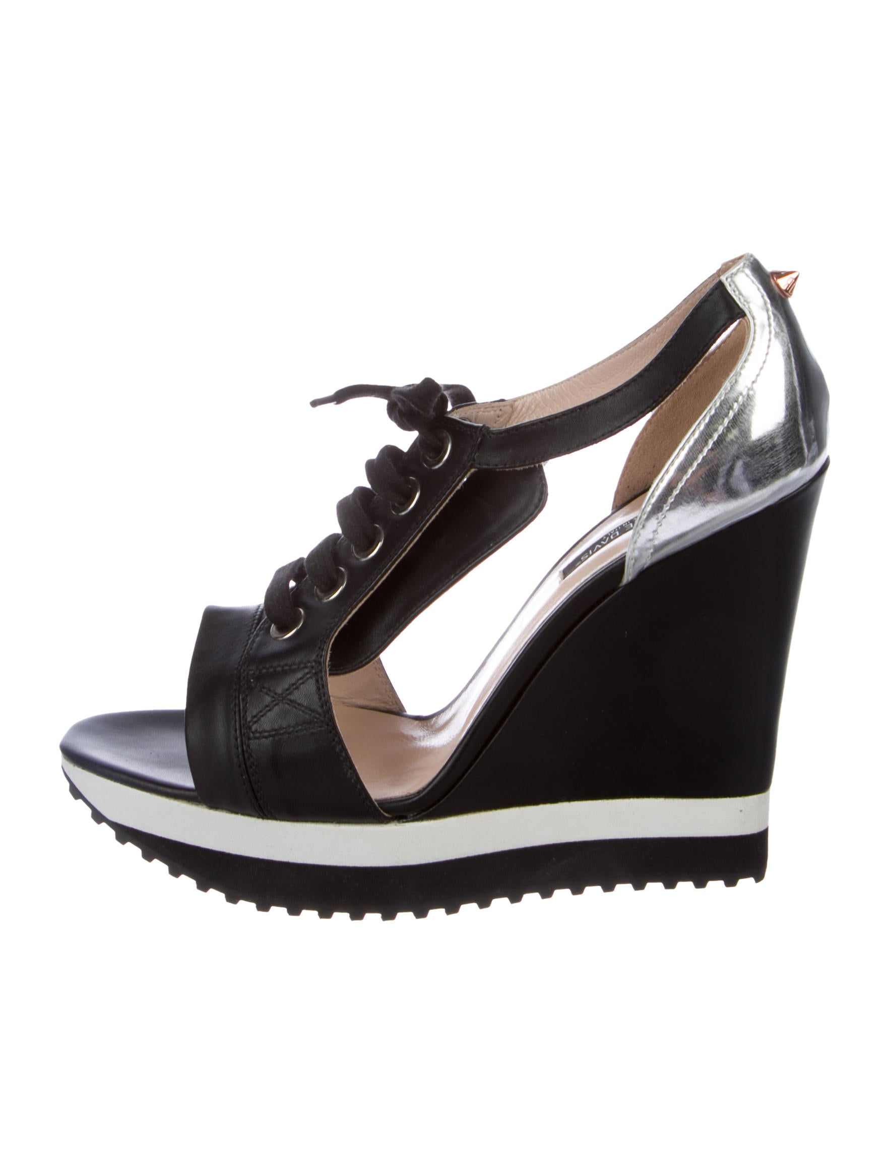 outlet best prices cheap sale top quality Ruthie Davis Cutout Leather Sneaker Wedges shop for for sale from china cheap price hot sale sale online hDbnyG