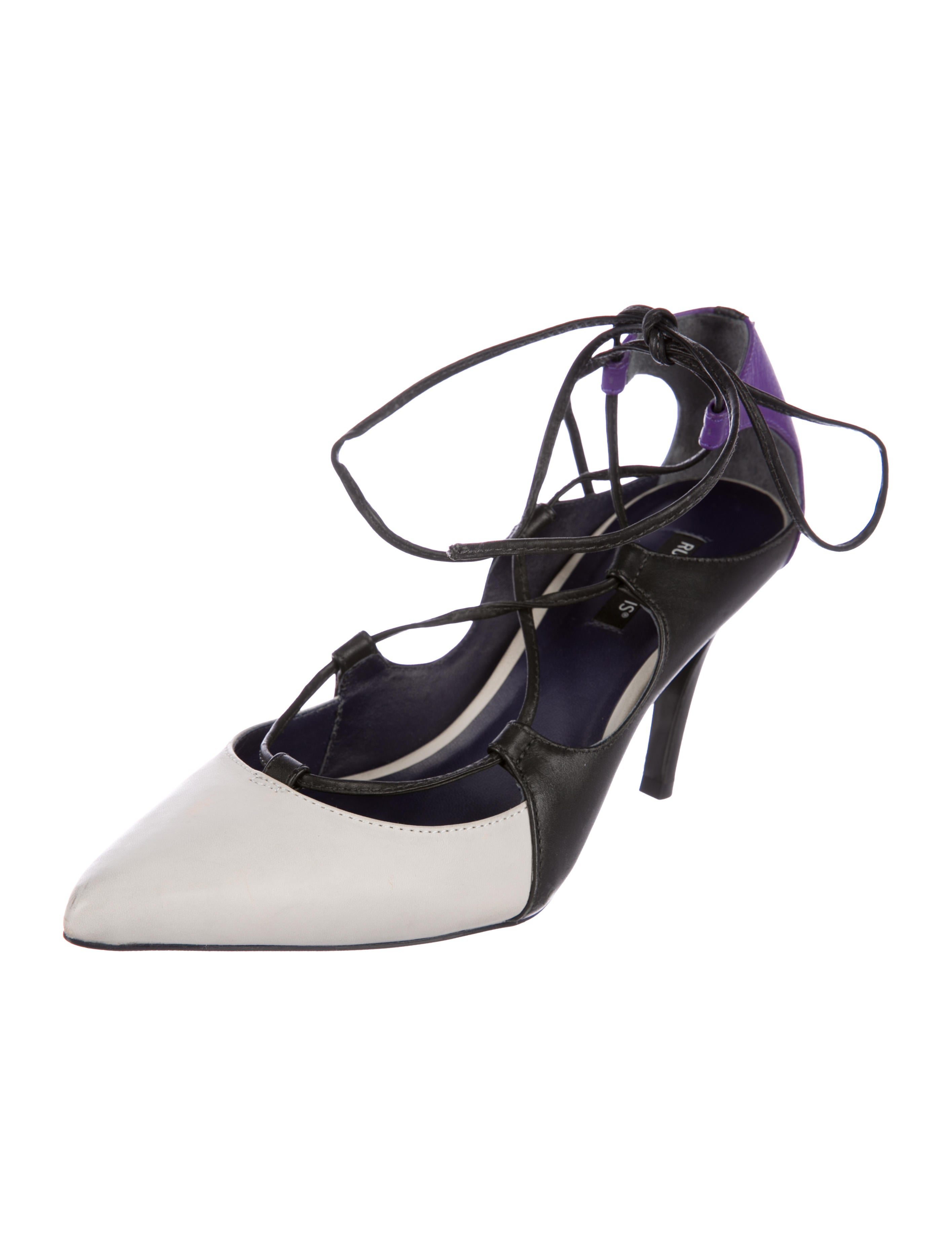cheap for sale buy cheap best seller Ruthie Davis Leather Lace-up Pointed-Toe Color-Blocked Pumps cheap price outlet cheap sale latest buy cheap 100% original XjnFnnRarf
