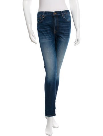 Medium-Wash Skinny Jeans