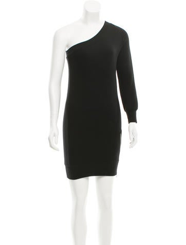 R13 One-Sleeve Sweatshirt Dress