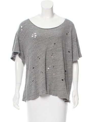 R13 distressed raw edge t shirt clothing wra22396 for Raw edge t shirt women s