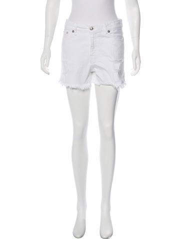 R13 Denim Distressed Shorts None