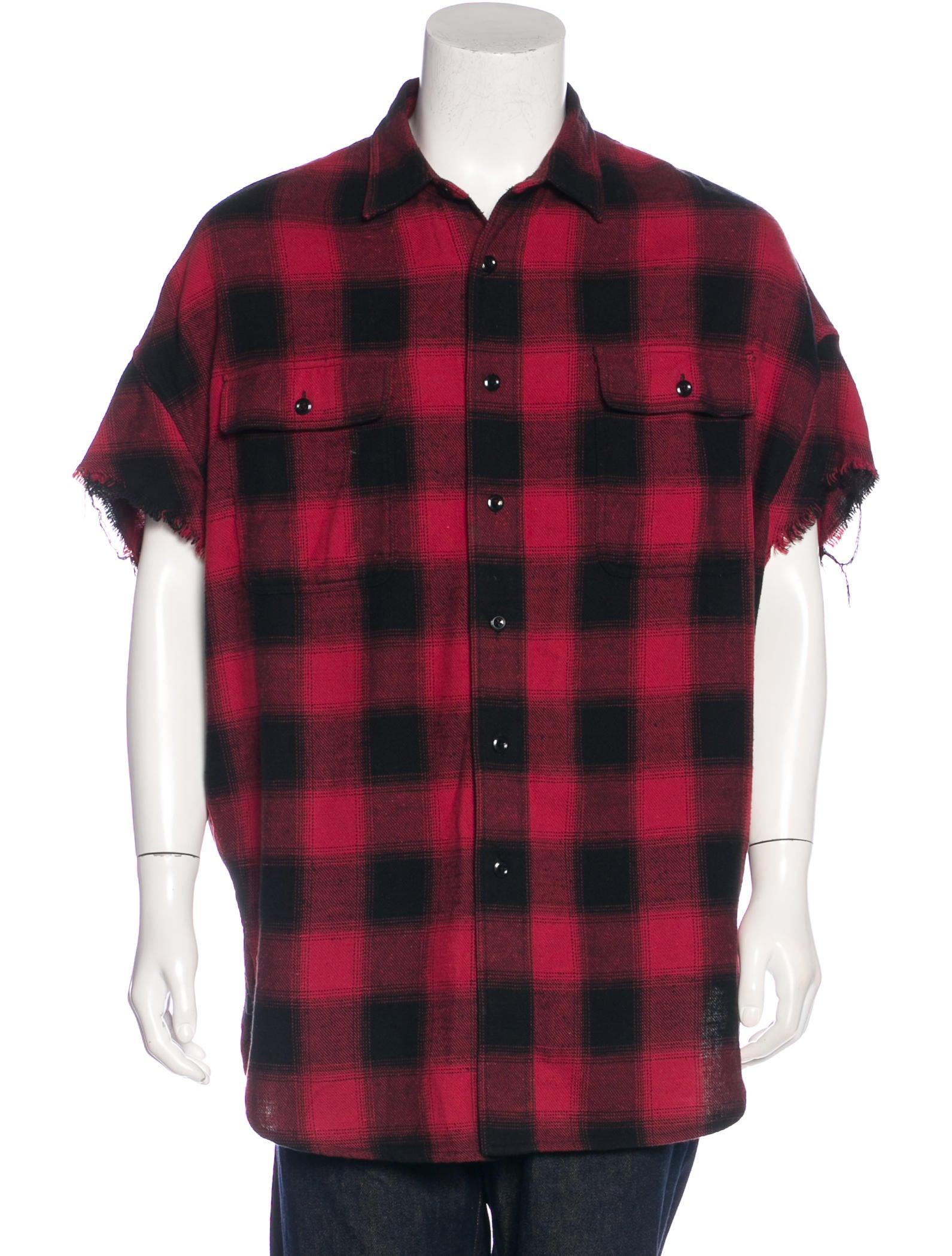 R13 2017 distressed buffalo plaid shirt clothing for Buffalo plaid men s shirt