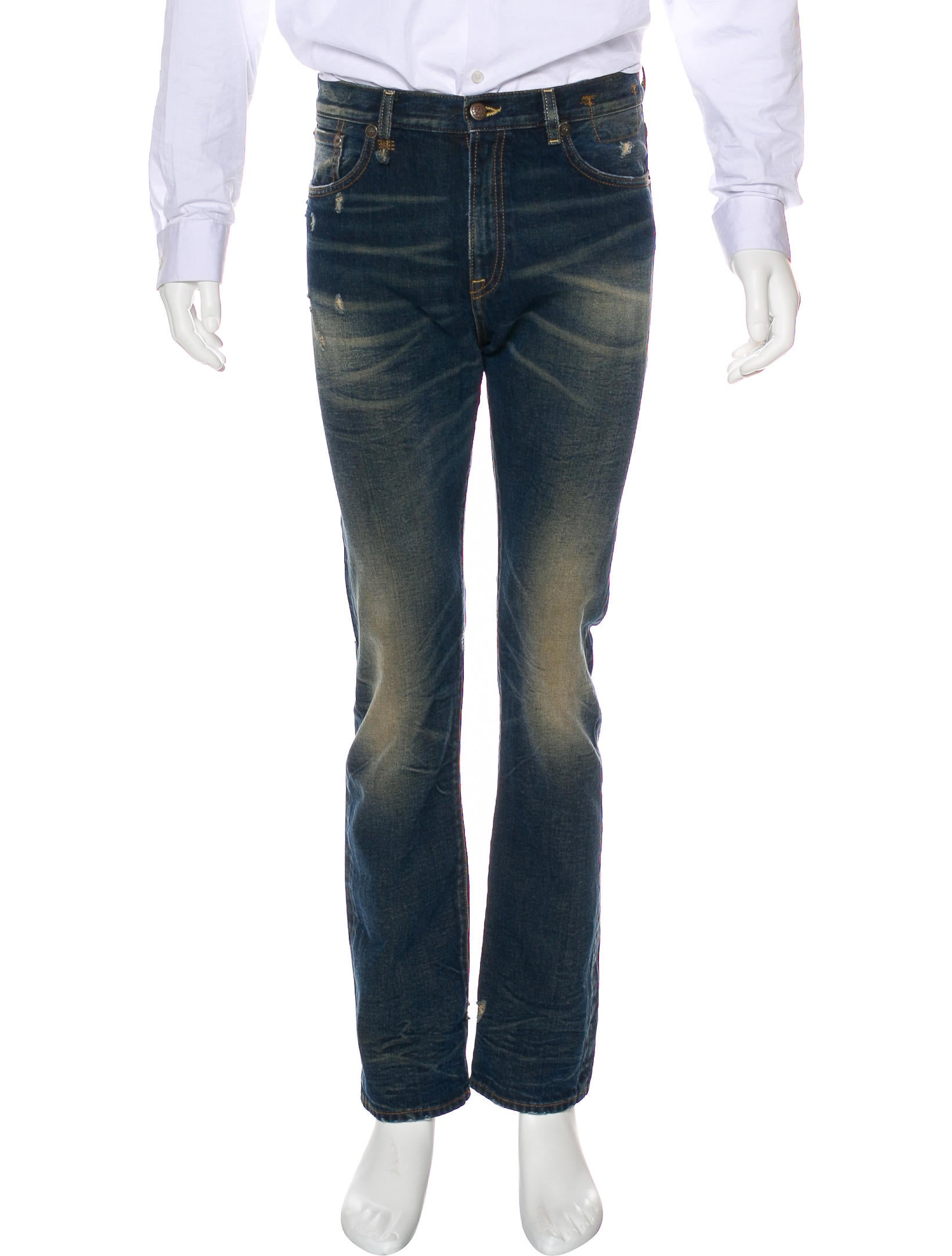 r13 the classic distressed slim fit jeans w tags. Black Bedroom Furniture Sets. Home Design Ideas